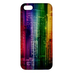 Skyline Light Rays Gloss Upgrade Apple Iphone 5 Premium Hardshell Case