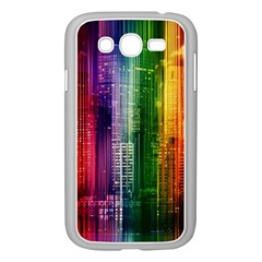 Skyline Light Rays Gloss Upgrade Samsung Galaxy Grand Duos I9082 Case (white)