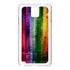 Skyline Light Rays Gloss Upgrade Samsung Galaxy Note 3 N9005 Case (white)