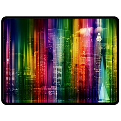 Skyline Light Rays Gloss Upgrade Double Sided Fleece Blanket (large)