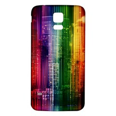 Skyline Light Rays Gloss Upgrade Samsung Galaxy S5 Back Case (white)
