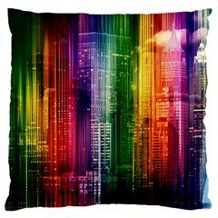Skyline Light Rays Gloss Upgrade Large Flano Cushion Case (one Side)
