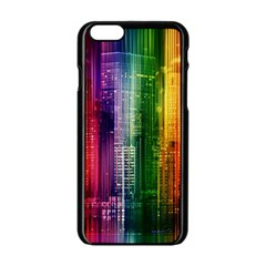 Skyline Light Rays Gloss Upgrade Apple Iphone 6/6s Black Enamel Case