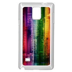 Skyline Light Rays Gloss Upgrade Samsung Galaxy Note 4 Case (white)