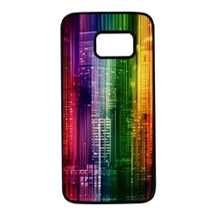 Skyline Light Rays Gloss Upgrade Samsung Galaxy S7 Black Seamless Case
