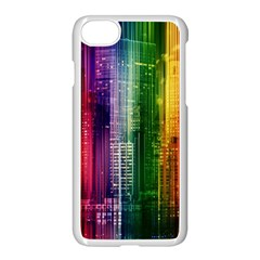 Skyline Light Rays Gloss Upgrade Apple Iphone 7 Seamless Case (white)