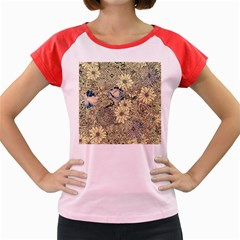 Abstract Art Artistic Botanical Women s Cap Sleeve T Shirt