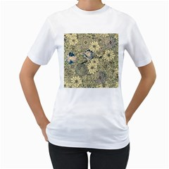 Abstract Art Artistic Botanical Women s T Shirt (white) (two Sided)