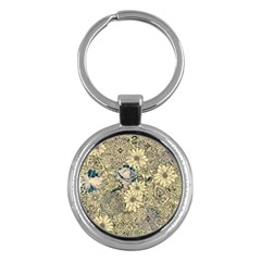 Abstract Art Artistic Botanical Key Chains (round)