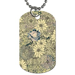 Abstract Art Artistic Botanical Dog Tag (one Side)