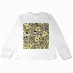 Abstract Art Artistic Botanical Kids Long Sleeve T Shirts