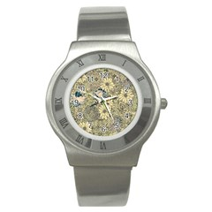 Abstract Art Artistic Botanical Stainless Steel Watch