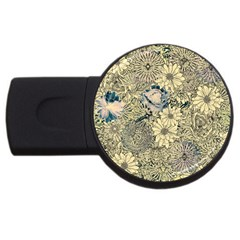 Abstract Art Artistic Botanical Usb Flash Drive Round (4 Gb)