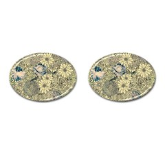 Abstract Art Artistic Botanical Cufflinks (oval)