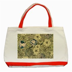 Abstract Art Artistic Botanical Classic Tote Bag (red)