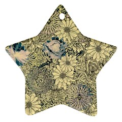Abstract Art Artistic Botanical Star Ornament (two Sides)