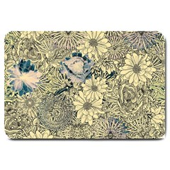 Abstract Art Artistic Botanical Large Doormat