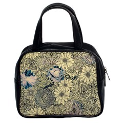 Abstract Art Artistic Botanical Classic Handbag (two Sides)