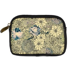 Abstract Art Artistic Botanical Digital Camera Leather Case