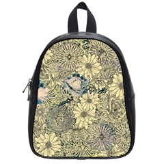 Abstract Art Artistic Botanical School Bag (small)