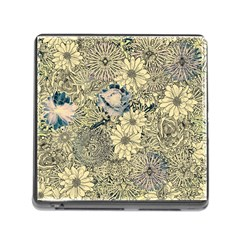 Abstract Art Artistic Botanical Memory Card Reader (square 5 Slot)