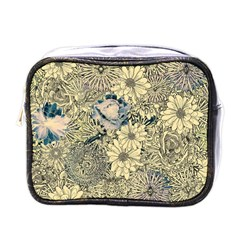 Abstract Art Artistic Botanical Mini Toiletries Bag (one Side)