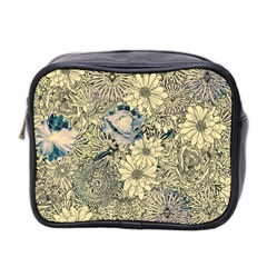 Abstract Art Artistic Botanical Mini Toiletries Bag (two Sides)