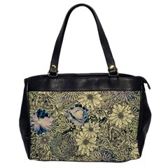 Abstract Art Artistic Botanical Oversize Office Handbag