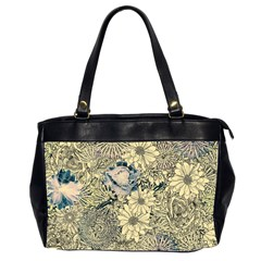 Abstract Art Artistic Botanical Oversize Office Handbag (2 Sides)