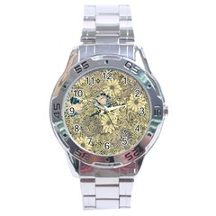 Abstract Art Artistic Botanical Stainless Steel Analogue Watch