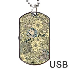 Abstract Art Artistic Botanical Dog Tag Usb Flash (two Sides)