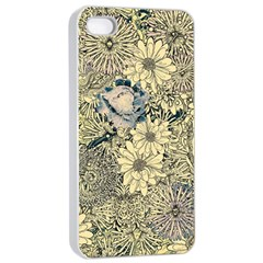 Abstract Art Artistic Botanical Apple Iphone 4/4s Seamless Case (white)