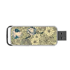 Abstract Art Artistic Botanical Portable Usb Flash (one Side)