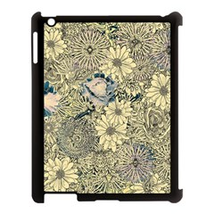 Abstract Art Artistic Botanical Apple Ipad 3/4 Case (black)