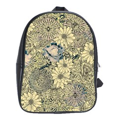 Abstract Art Artistic Botanical School Bag (xl)