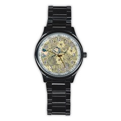 Abstract Art Artistic Botanical Stainless Steel Round Watch