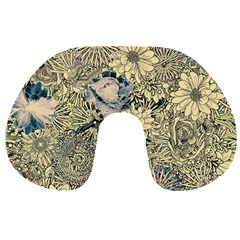 Abstract Art Artistic Botanical Travel Neck Pillows
