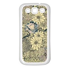 Abstract Art Artistic Botanical Samsung Galaxy S3 Back Case (white)