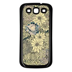 Abstract Art Artistic Botanical Samsung Galaxy S3 Back Case (black)