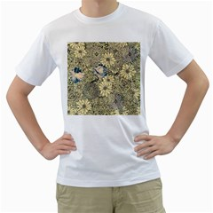 Abstract Art Artistic Botanical Men s T Shirt (white)