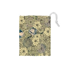 Abstract Art Artistic Botanical Drawstring Pouch (small)