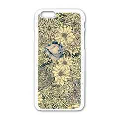 Abstract Art Artistic Botanical Apple Iphone 6/6s White Enamel Case