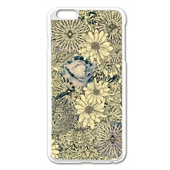 Abstract Art Artistic Botanical Apple Iphone 6 Plus/6s Plus Enamel White Case
