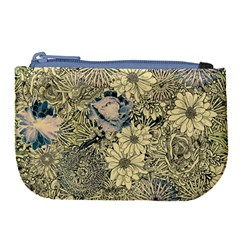 Abstract Art Artistic Botanical Large Coin Purse