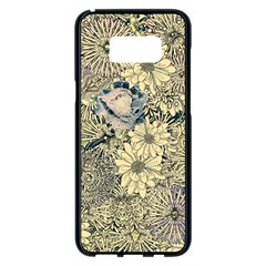 Abstract Art Artistic Botanical Samsung Galaxy S8 Plus Black Seamless Case