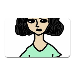 Angry Girl Magnet (rectangular)