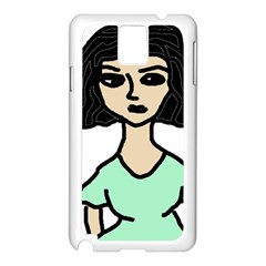 Angry Girl Samsung Galaxy Note 3 N9005 Case (white)