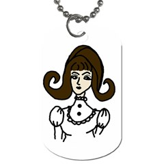 Girl With Dress Dog Tag (two Sides) by snowwhitegirl