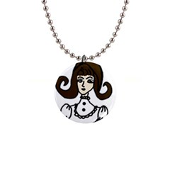 Girl With Dress Button Necklaces