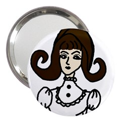Girl With Dress 3  Handbag Mirrors